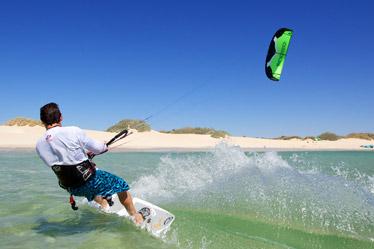 Kitesurfing nybörjare